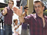 Protective Olivier Martinez nearly loses his cool as he joins pregnant Halle Berry and Nahla for Mother's Day lunch