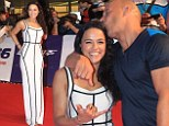 Michelle Rodriguez freshens up the tired bandage look in maxi dress at South Korean premiere of Fast & Furious 6