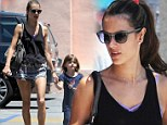 Who wears short shorts? Alessandra Ambrosio beats the LA heat in tiny shorts that expose her never-ending legs