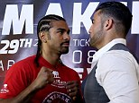 Off: David Haye's fight with Manuel Charr has been cancelled following a hand injury sustained by the British boxer