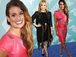 At least we have each other! Pretty in pink Lea Michele and pal Demi Lovato glam up to reunite as their network Fox reveals 'it has been a tough year'