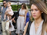 Two generations: Jessica Alba has Mother's Day brunch in Bel-Air with her family and mother Cathy
