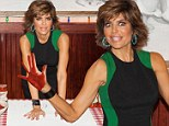 Mad for marinara! Lisa Rinna gets handsy with pasta sauce in a curve-hugging black dress at Buca di Beppo
