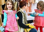 Spending mummy's money! Alyson Hannigan's adorable daughter Satyana goes on a toy store spending spree