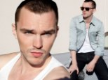 Bad boy: Nicholas Hoult showed his edgy side in the new issue of Flaunt magazine