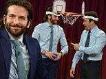 Roses and jokes: Bradley Cooper promoted The Hangover Part III in New York City on Monday with appearances on The Today Show and Late Night With Jimmy Fallon