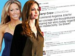 The country singer praised Angelina for speaking openly about her decision to undergo the operation after she was found to have an 87 per cent chance of developing breast cancer.