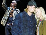 Arrested: Puddle Of Mudd singer Wes Scantlin was taken into custody in West Hollywood on Monday for suspicion of battering ex wife Jessica Nicole Smith