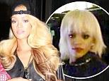 A change of tress! Bad gal Rihanna swaps short platinum fringed wig for luscious Barbie-like blonde weave overnight