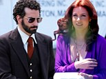 Lights, camera, boob action! Amy Adams goes braless in low-cut dress while Bradley Cooper sports springy curls to film their new movie