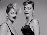 BFFs: Cara Delevingne has hijacked Rita Ora's new video Facemelt