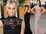 Ashlee Simpson shows some skin in backless black dress... while Coco Rocha goes dramatic as stars swan to the ballet