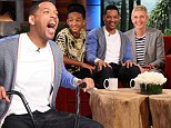 Emancipation talk: Will Smith and son Jaden appeared on The Ellen DeGeneres Show on Wednesday and addressed the rumor that The Karate Kid star wants to be emancipated