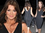 Ravishing in black! Lisa Vanderpump slips into sexy zip-up dress to attend Dancing With The Stars party