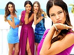 Angels in paradise! Otherworldly beauties Adriana Lima, Lily Aldridge and Behati Prinsloo storm the beach for press event