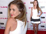 Looking ace! Audrina Patridge shows off her toned figure in sporty white frock at young Hollywood bash