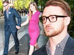 Suit and no tie! Justin Timberlake and Jessica Biel polish up to attend a dinner with President Obama, where he opened up about recent American tragedies