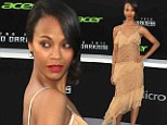 Zoe Saldana bares her toned midriff in see-through frock at Star Trek premiere after hinting at her sexuality in new interview