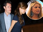 Nick Lachey treats wife Vanessa to dinner as his ex-Jessica Simpson fumes over 'gay joke' he made about her father Joe