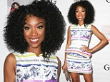 Brandy Norwood attends a Niecy Nash signing for her book It's Hard to Fight Naked at the Luxe Rodeo Drive Hotel in Beverly Hills, California