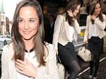 Pippa Middleton leaving a Vanity Fair function in London