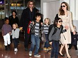 Family matters: Angelina Jolie did her utmost to keep life as normal as possible for her and partner Brad Pitt's six children