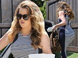 Now who's too bootylicious for you, baby? Khloe Kardashian rocks up to see pregnant Kim in dress that accentuates every curve