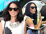 Olivia Munn hits the salon in graphic vest top and skintight jeans as she steps out for a manicure