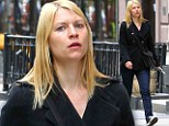 Getting much sleep? New mother Claire Danes snatches a well-deserved breather as Homeland gears up for season three