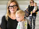 Hilary Duff and son Luca go grocery shopping in Beverly Hills, California on Wednesday