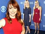 Working mothers Alyson Hannigan, Sarah Michelle Gellar and Anna Faris dazzle in dresses as they toast CBS's fall lineup