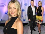 Daring beauty! Ali Larter shows off her tiny waist in strappy black and yellow frock at TNT and TBS event