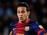 On alert: Barcelona have put Thiago Alcantara up for sale piquing the interest of several clubs across Europe