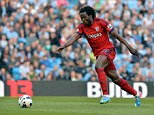 Powerful: Romelu Lukaku would be an impressive signing for West Ham if made available