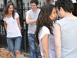 Katie Holmes on the set of Mania Days in New York City