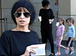 Nicole Richie and her children out in Sydney, Australia