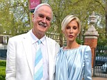 Styles in sync: John Cleese and wife Jennifer Wade colour-coordinated their outfits as they had a rare night out in London on Wednesday