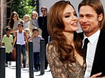 Family support: Brad Pitt said his six children with Angelina Jolie, shown in March 2011, did their best to make her breast removal surgery and reconstruction bearable for her