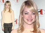 Emma Stone at a Gilda's Club event to honour women working with cancer