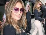 Jennifer Lopez flaunts her amazingly pert derriere in tight trousers ahead of her American Idol return