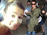 In-flight beauty! Lea Michele takes advantage of bi-coastal flight by having her makeup done before arriving at LAX