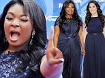 Candice Glover and Kree Harrison arrive at the American Idol finale at the Nokia Theatre at L.A. Live on Thursday in Los Angeles