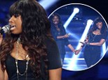 It's not your moment in the Spotlight! Jennifer Hudson can't help trying to out-sing American Idol winner Candice Glover