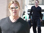Back to work! Brad Pitt heads to the studio after supporting fiance Angelina Jolie through double mastectomy ordeal