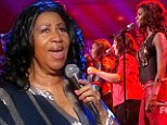 Aretha Franklin performs on American Idol on Thursday with the final five girls