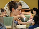 Solo pamper session! Makeup-free Alessandra Ambrosio slips out for a relaxing afternoon at the nail salon