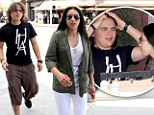 Prince among men! Junior Jackson takes 'princess' girlfriend Remi Alfalah to slap up Italian meal in Beverly Hills
