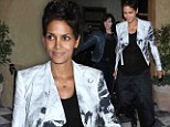 Things that go bump in the night! Halle Berry shows off her baby belly on dinner outing