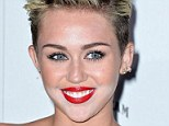 Make-up malfunction: Miley Cyrus at a party to celebrate her Maxim's Hot 100 title