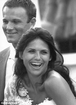 With wife Natalie on their wedding day